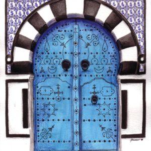 Tunisan Blue Door