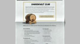 Barrell Club Poster in store design