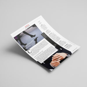 Column Ad Redesign for Magazine