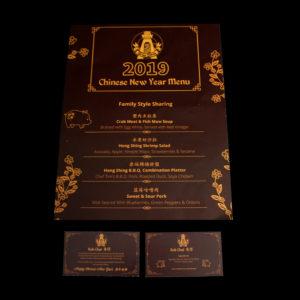 2019 menu and Kok Chai