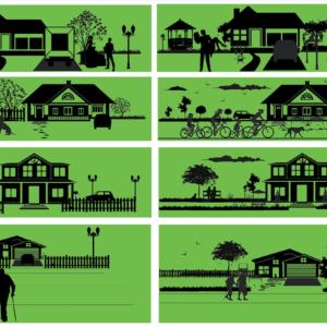 Compiled 4 season illustration
