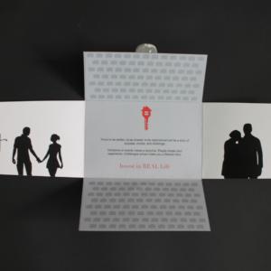 Door knocking promotional envelope