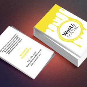 West&Social Business Card Design