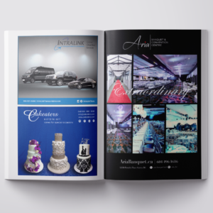 The Wedding Planner: 1 Full Page and 2 half page Ad Designs