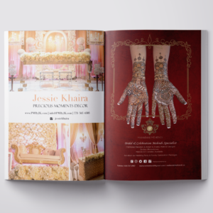 The Wedding Planner: 2 Full Page Ad Designs