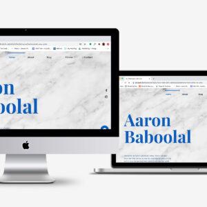 AaronBaboolal blog website