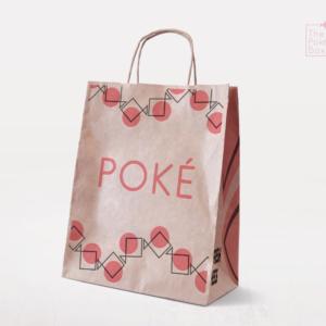 Fish pattern created from The Poke Box logo